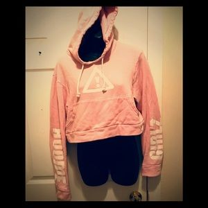 Other - ⭐️HOODIE GIRLZ BABY PINK CROP SWEAT HOODIE⭐️SZ M
